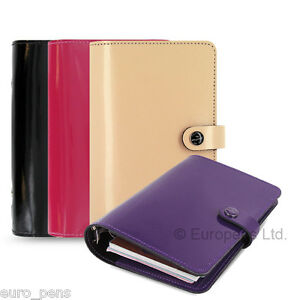 Filofax Original Patent Leather Personal Size Organiser All Colours Available