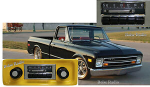 New Slidebar Radio Stereo For 1967 1972 Gmc Pickup Truck By Custom Autosound