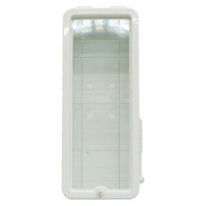 Firetech 20 Lb Fire Extinguisher Cabinet Indoor Outdoor White Free Shipping