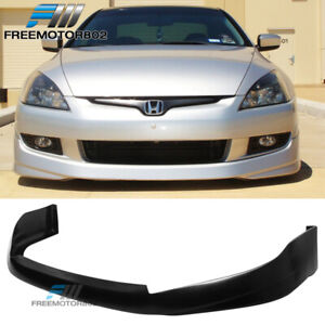 Fit 03 05 Honda Accord Coupe Hfp Style Pu Front Bumper Lip Bodykit