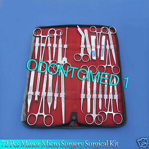 72 Pc Minor Micro Surgery Surgical Veterinary Dental Instruments Student Ds 860