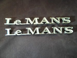 Pair Of Vintage Original Pontiac Lemans Fender Emblems