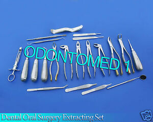 23 Pc Basic Oral Dental Surgery Extraction Elevators Forceps Instruments Dn 558