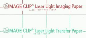 Laser Transfer For White Fabric image Clip Light 11 x17 50ct Each 2 Sets