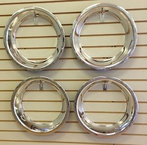 15 2 5 Chevy Bowtie Chrome Stainless Steel Trim Ring Set 15x7 Rally Wheels