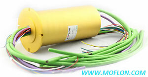 Automation Slip Ring From Moflon od120mm6 Wires 10a rotor Flange Mounting