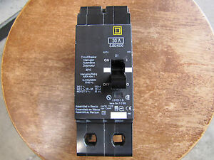 New Square D Ejb24030 Panel Take Out 2 Pole 30a 100kaic Circuit Breaker