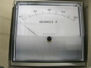 Weston 2041t Gauge 40 120 Degrees Fahrenheit Temperature Gage Fs 1 5 Vdc
