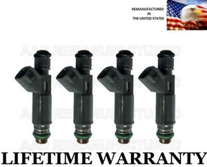 Genuine Denso Set Of 4 Fuel Injectors For Saturn Pontiac Chevy 2 2l 2 4l