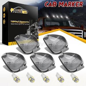 5xsmoke Cab Roof Clearance Light Covers T10 Free White Leds For Ford F 350 F 450
