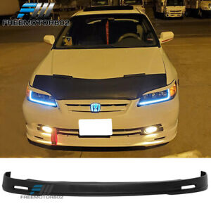For 01 02 Honda Accord 2dr Mugen Front Bumper Lip Spoiler Bodykit Pp 2001 2002