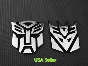 Medium 3d Autobot Decepticon Transformers Emblem Badge Graphic Decal Car Sticker