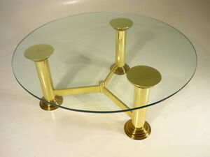 Hollywood Regency Modern Brass Baughman Dia Coffee Table Eames Era