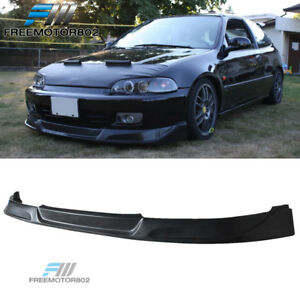 For 92 95 Honda Civic Eg 2 3dr Front Bumper Lip Spoiler Bodykit Concept Type Pu