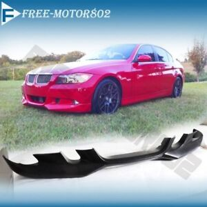For 06 08 Bmw E90 325 328 330 335 Sedan Pu A Front Bumper Lip Spoiler Bodykit