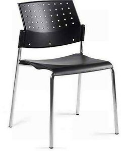 Global Sonic 6508 Polypropylene Stacking Chair Armless
