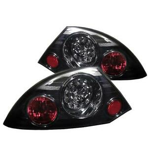 Pair Led Tail Lights Lamps For Mitsubishi Eclipse 2000 2002 Smoke Lens 1 Yr Warr