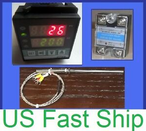 Pid Temperature Controller Solid State Relay Ssr Rtd Pt100 Sensor Thermocouple