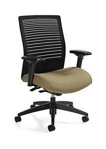 Global Loover 2662 8 Mesh Fabric Mid back Executive Office Chair Adjustable A