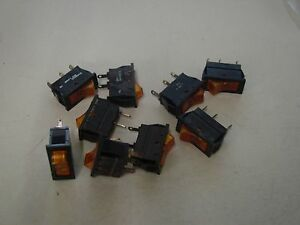 Lot Of 9 Bourg Ae Yellow Bin Indicator Led Switch Part Number 9146002