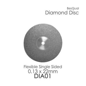 Dental Lab Diamond Disc 1 Single Sided 22mm X 0 13mm 6 piece For Porcelain