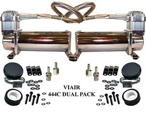 Viair 444c Chrome Dual Pack Compressors Air Bag Ride Suspension Train Horns