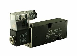 1 4 Pneumatic 4 Way Namur Mount Directional Control Solenoid Air Valve 12v Dc