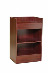 Item rcwal 2 Walnut Pos Stand Check Out Counter Register Stand Long Brand New