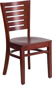 Darby Series Slat Back Mahogany Wooden Restaurant Chair