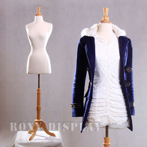 Size 2 4 Female Mannequin Dress Form Maple Wood Base Jf fwpw 4 Bs 01nx
