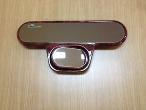 11 Wood Grain Panoramic Wide 2 In 1 Safety Rear View Baby View Mirror Jh