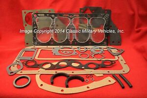 Willys Jeep Engine Overhaul Gasket Set Cj2a Cj3a M38 Mb Ford Gpw L134 Flat Head