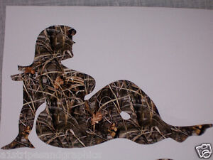 Real Tree M4 Camo Chunky Fat Girl Woman Truck Decal Decals Trucker Sticker