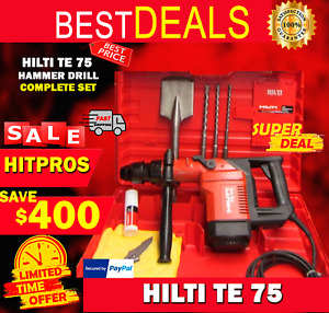 Hilti Te 75 Hammer Drill Great Condition Free Hilti Shirt Bits Fast Shipping