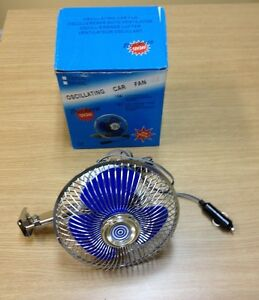 6 Oscillating Cooling Fan 60 Metal Spokes Cage Good For Car Truck Boat