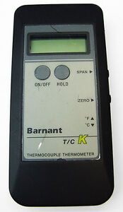 Barnant 600 0000 T c Type K Digital Thermocouple Thermometer Meter