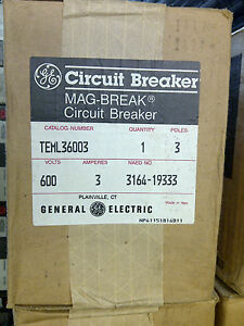 General Electric Teml36003 Circuit Breaker New In Factory Box 3a 600v