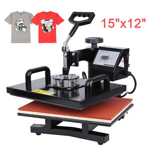 15 x12 Digital Heat Press Photo T shirt Transfer Machine 0 999s Time Control