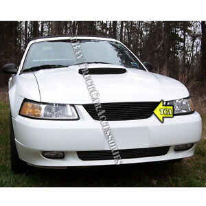 For 1999 2000 2001 2002 2003 2004 Ford Mustang Black Grille Replacement W O Logo