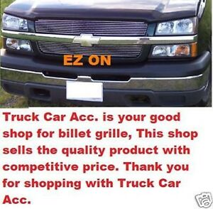 For Chevy Silverado 1500 2003 2004 2005 Upper Main Polished Grille Overlays 2pc
