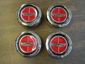 New Repro Ford Torino Magnum 500 Wheel Center Caps Metal 1971 1972 1973 1974 Gt