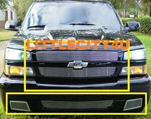 For 2003 2004 2005 2006 Chevy Silverado 1500 Ss Billet Grille Combo Inserts