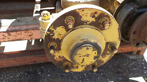 Hyster H135 155 Forklift Steering Axle without Rear Right Hub Spindle Tierod