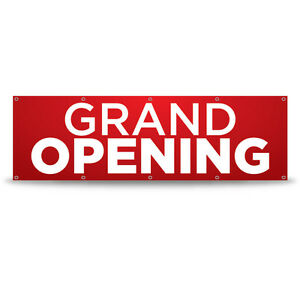 Grand Opening Banner Outdoor 13oz Vinyl 10ft X 3ft