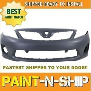 Fits 2011 2012 2013 Toyota Corolla Front Bumper Painted To Match To1000372