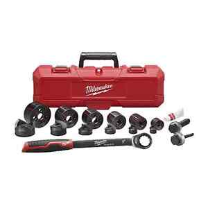 Milwaukee 49 16 2694 Milwaukee Exact 1 2 In To 2 In Hand Ratchet Knockout Set