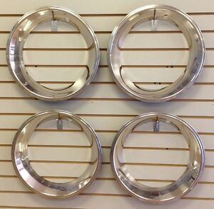 15 2 5 Deep Stainless Steel Beauty Trim Ring Set Of 4 Fits 15x7 Rally Wheels