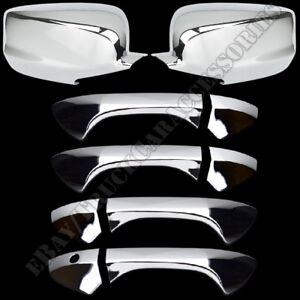 For Honda Accord 2008 2011 2012 Chrome Covers Set Full Mirrors 4 Doors W out Pk