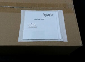 100 Clear Packing List 6 X 4 1 2 Envelopes Invoice Enclosed Label Slips