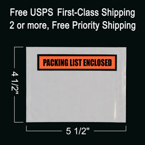 100 Packing List Envelopes 4 1 2 X 5 1 2 Enclosed Self adhesive Pouch Box Slips
